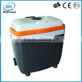 2014 Hot sale cheap mini portable/mobile refrigerator, DC 12V/24V /AC 220V-240V car fridge/freezer