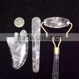 Wholesale natural clear water crystal massager for physcial health,clear quartz for craft