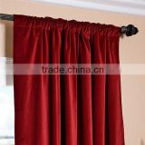 High-Grade Velvet Permanent Flame Retardant Curtain Fabric without MOQ