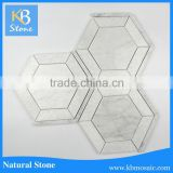 Wholesale Nature Stone Non-slip White Marble Mosaic Bathroom Tile Design For Floor And Wall
