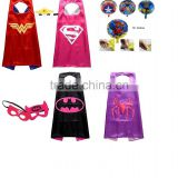 (MANUFACTURER) Superhero Assorted Kids' Costumes with Satin Cape and Felt Mask and ballon