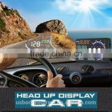 "Fashionable A8 5.5"" Car HUD Head Up Display OBD II 2 Speed Warning System Fuel Consumption"
