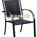 exclusive design outdoor cast aluminum chair/cast aluminum table and chair/wicker metal frame chair for restaurant