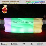 white plastic bar furniture for discotheque / disco colorful led furniture