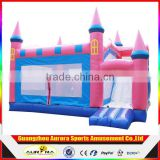 0.55mm PVC tarpaulin anime cartoon inflatable castle with slide jump bed trampoline kids Indoor and outdoor toy