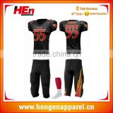 Hongen apparel Custom Spandx sublimation team American football sets uniforms Dye sublimation sports football kits uniforms