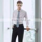 China Pink, Blue and White Dress Shirt Latest Casual Shirts Designs for Men