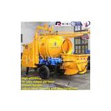 Good price concrete mixer pump trailer hydraulic portable concrete mixing equipment cement concrete
