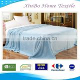 2015 Hot Super Cozy Wholesale Beautiful American European Solid Coral 100 polyester Fleece Blanket