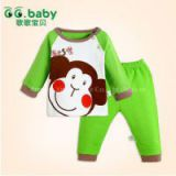 Retail 0-2yrs 2015 New Cotton Spring Baby Boys Girls Autumn Spring 2pcs Clothing Set Suit Baby Tops+Pants Sets