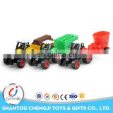 Hot selling diecast farming car model metal toy truck and trailer