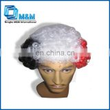 2014 football fan wig/color wig/afro wig