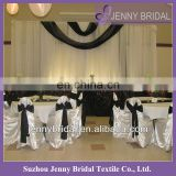 BCK054 2013 wedding chiffon and organza white wedding backdrop
