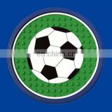 2D football rubber cup coaster drink cup mat