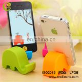 Colorful Cute Mini Elephant Soft Silicone Cell Phone Holder for Phone Stand
