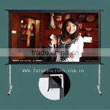 fast fold screen,front office equipment,aluminum alloy portable, front and rear projector screen,flight case,screens