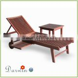 wooden outdoor furniture teak wood swiming pool reclining chair outdoor wooden chaise lounge