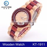 2015 Popular Wholesale Festival Gift Japanese Movement Bamboo Wooden Watch