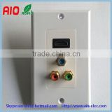 ICC Component RCA couple Audio/Video, High Definition Multimedia Interface Audio Video wall plate