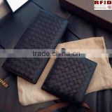 RFID Blocking Hand Weave Women Wallet-protect your private information