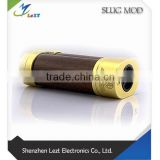 New Arrival Punk slug mod !!! Brass and Wood Material 18650 Mod Steel Punk slug Mechanical Mod