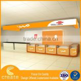 Retail store furniture display stand for shopping mall phone kiosk