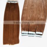 Cheap wholesale top quality human hair virgin brazilian tape in human hair extension