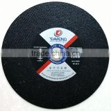 China high quality 405mm abrasive cutting disc/wheel for metal