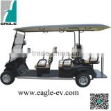 6 seats electric Golf cart with Folding windshield CE approved four wheel with long roof EG2048KSF
