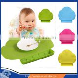 FDA approved baby silicone placemat with sucker silicone mat tiny diner placemat 4 colors for choice