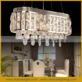Big square LED crystal short chandelier with clear k9 crystal with lighting remote control