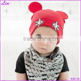 5colors Baby Girl Cotton Beanies Cartoon Designs Infant Kids Spring Autumn Hat Cap Boy Girl Hat 1pct