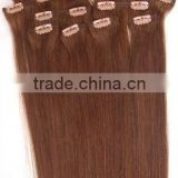 Wholesale High Quality Brazilian Virgin Remy Human Hair Clip in Hair Extension For African American