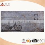 Wholesale bicycle decal wooden wall sign with best price
