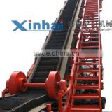 China Good Quality Belt Conveyor Systems with High Inclination Angle and Waved Guard Side For Sale