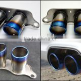 Car Titanium Exhaust Tips / Pipes for Porsche