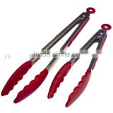 Hot sale silicone BBQ food tong and Salad & Grill Stainless Steel Serving Tongs with Silicone Tips                                                                         Quality Choice