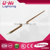 golden coatd fused heating lamp twin silica glass tube