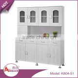 OEM home furniture 4 doors and 4 drawers modern storage cheap white MDF mobile wooden cabinet