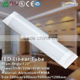 Milky white PC diffuser 40w high bright led linear light 4feet waterproof led wide tube type led linear light