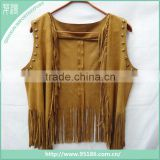 2016 fashion design new cape women suede fringed shawl scarf