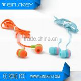 2015 new products super bass earphone noodles wire stylish earhones X48 for mp3 player X48