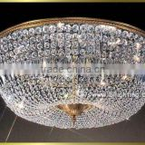 Modern luxury crystal chandlier flush mount ceiling light