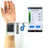 Medical bluetooth 4.0 blood pressure meter digital wireless wrist blood pressure monitor