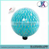 "2015 Newest Wholesale High Quality Solar LED Light Round Shape 10"" Mosaic Blue Glass Ball"
