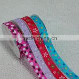 Supply floral flower ribbon printing for Crafts Cardmaking Sweet Trees baby theme printed ribbon for hair dress