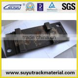 railroad tie plate for UIC60 rail