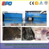 Portable MBR-container for wastewater treatment with 0.1 micron flat sheet membranes