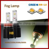Car Accessories for Jeep Wrangler Dodge led foglight 4000lm heaglight kit daewoo matiz fog lamp