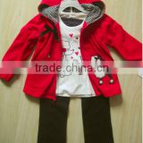 children's clothing set kids set clothes girls 3pc set hoodie inner top and pants 3pc sets baby wears